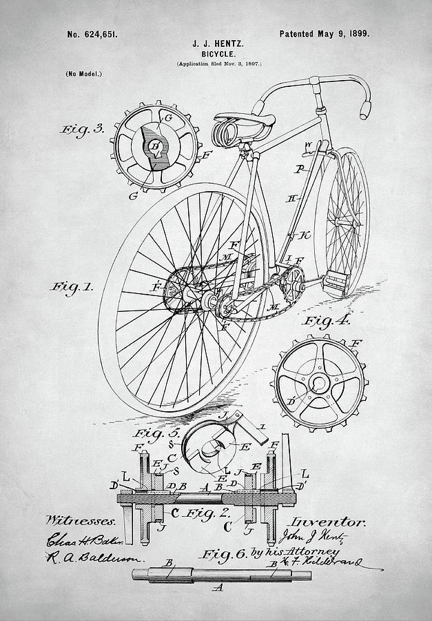 Bicycle Patent Digital Art