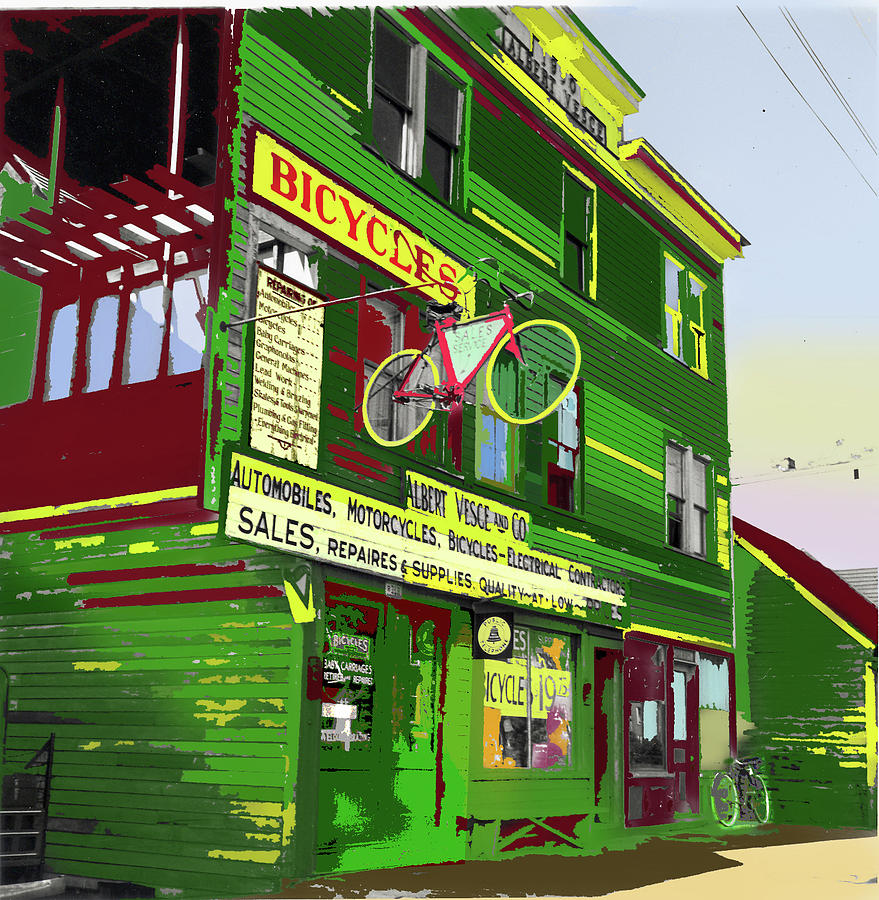 Bicycle Repair Shop by Charles Shoup