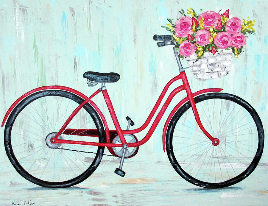 Bicycle Painting - Bicycle Spring Break by Katie Phillips