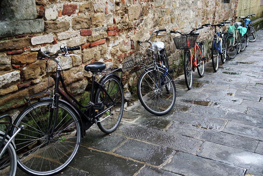 Bicycle Photograph - Bicycles In Rome by Aleksandr Syniushko