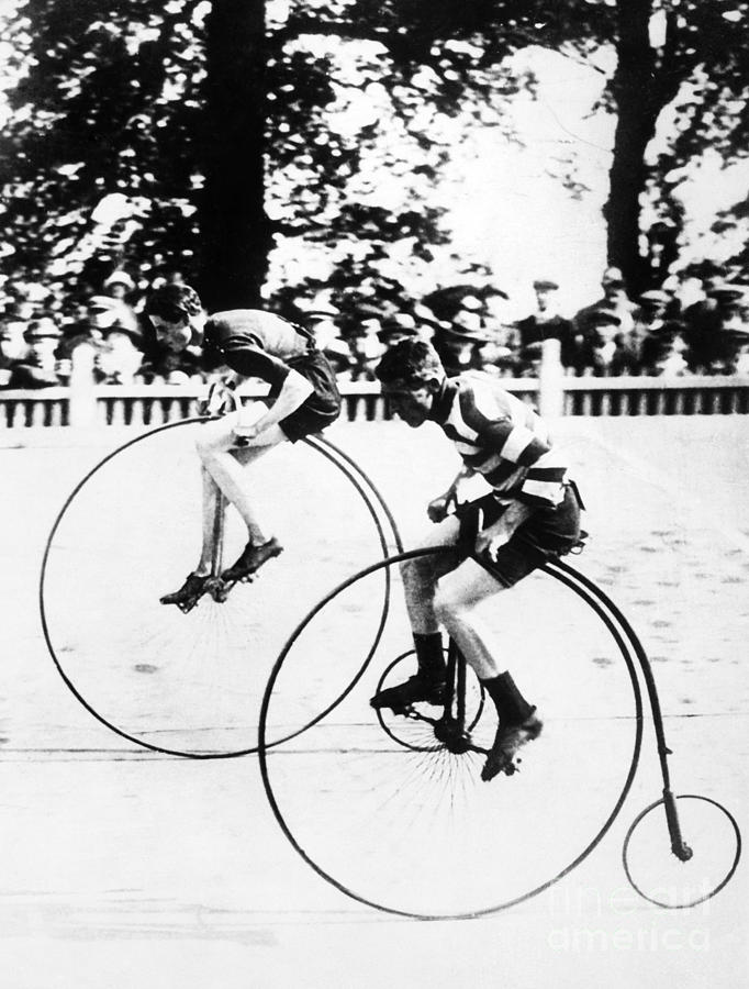 1890s Photograph - Bicycling Race, C1890 by Granger