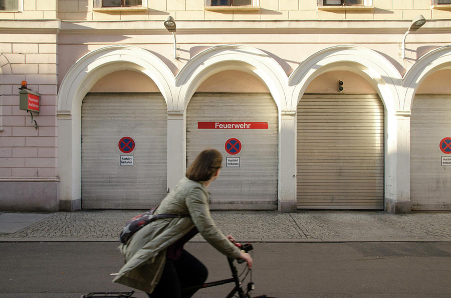 Bicyclist in Berlin by Erik Burg