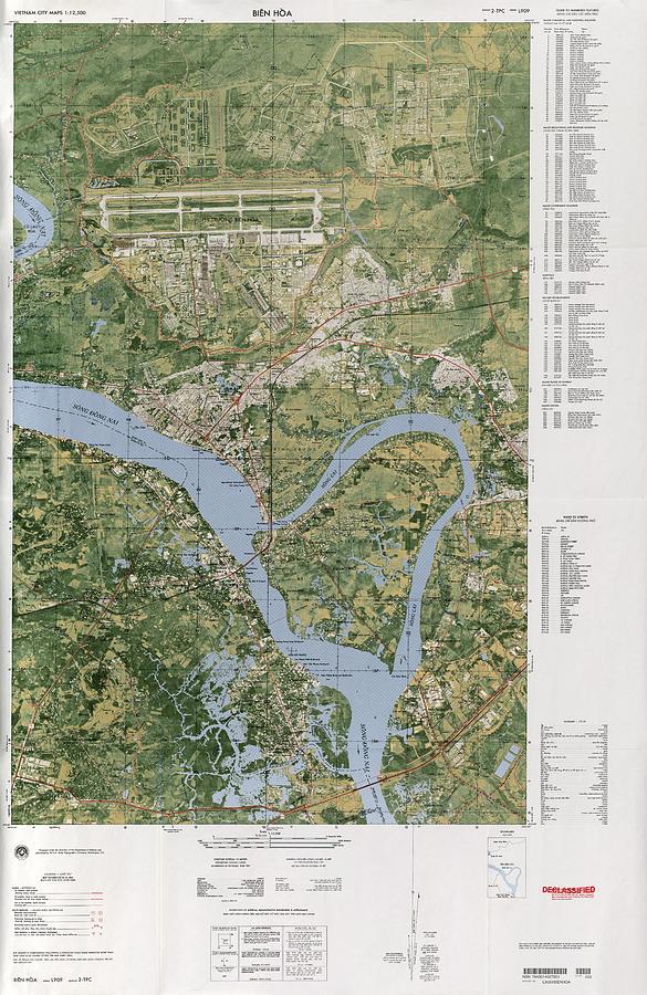 Bien Hoa South Vietnam 1968 Photograph By Maps Of Vietnam