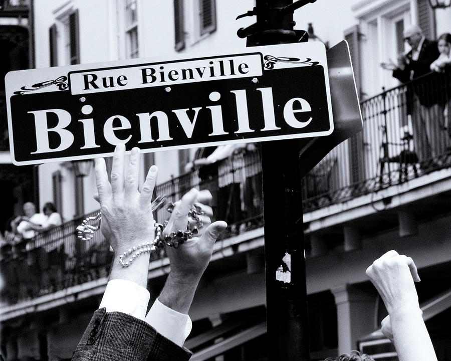 New Orleans Photograph - Bienville Street In New Orleans by Ray Devlin