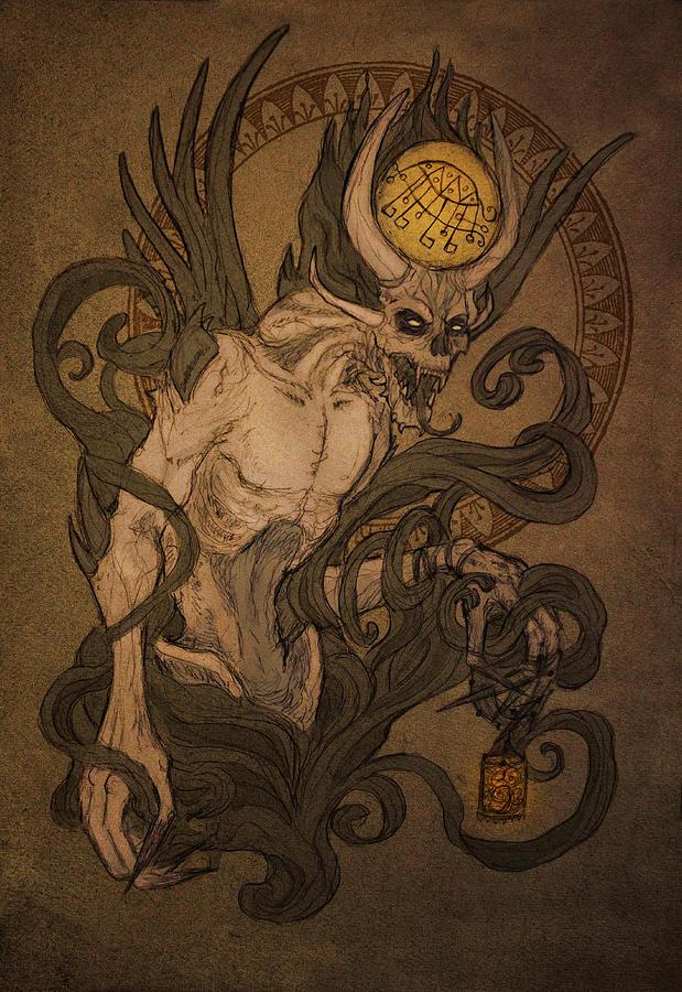 Demon Digital Art - Demons Of Goetia - Bifrons by Cambion Art