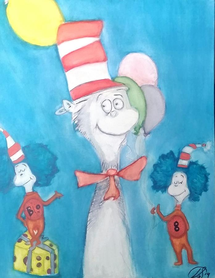 Dr Seuss Painting - Big 8 by Tyler Schmeling