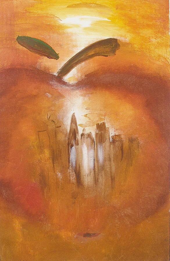Big Apple Painting by Miroslaw  Chelchowski