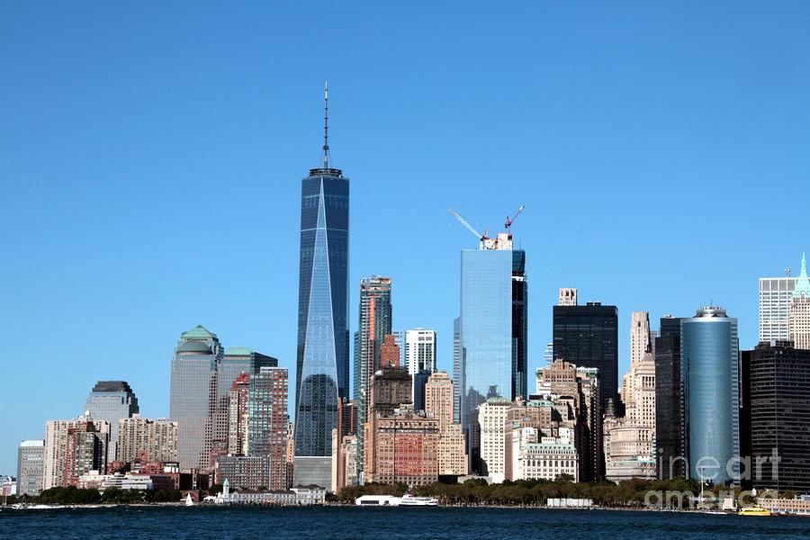 Lower Manhattan Photograph - Big Apple Skyline by Linda C Johnson