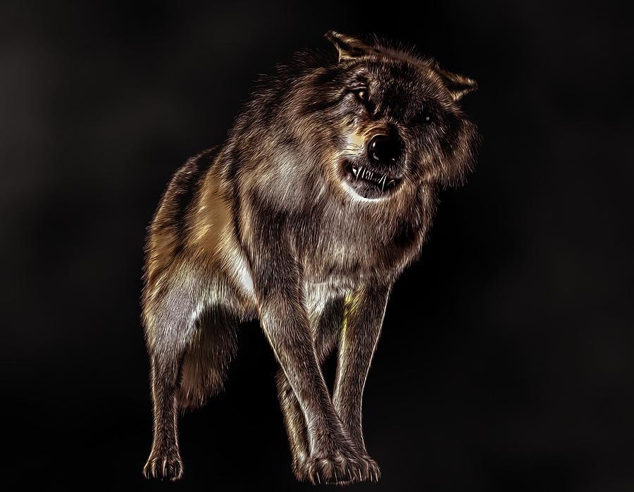 Big Bad Wolf Digital Art - Big Bad Wolf by Daniel Eskridge