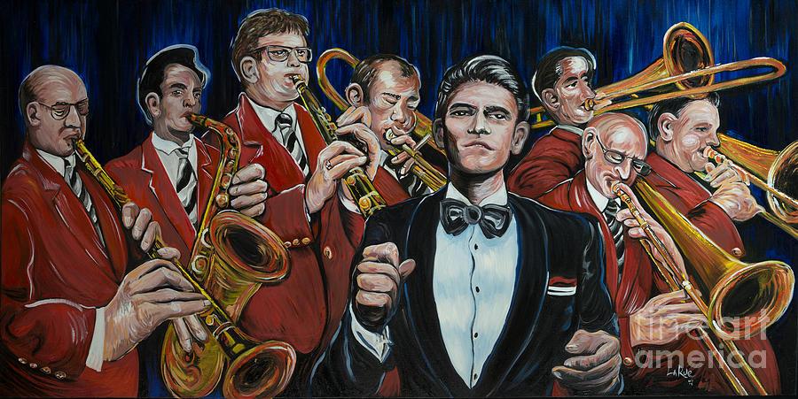 Big Band Painting - Big Band Leader by Doug LaRue