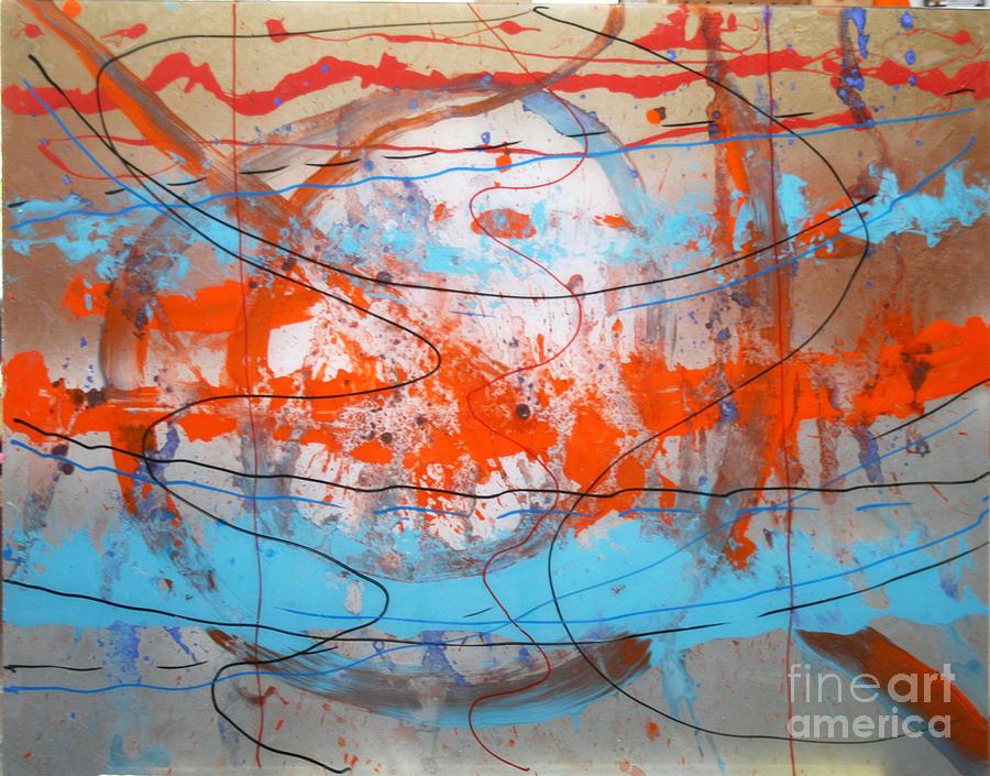 Abstract Painting - Big Bang by Mordecai Colodner