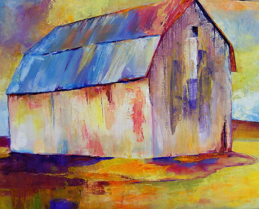 Barn Painting - Big Barn I  by Peggy Wilson