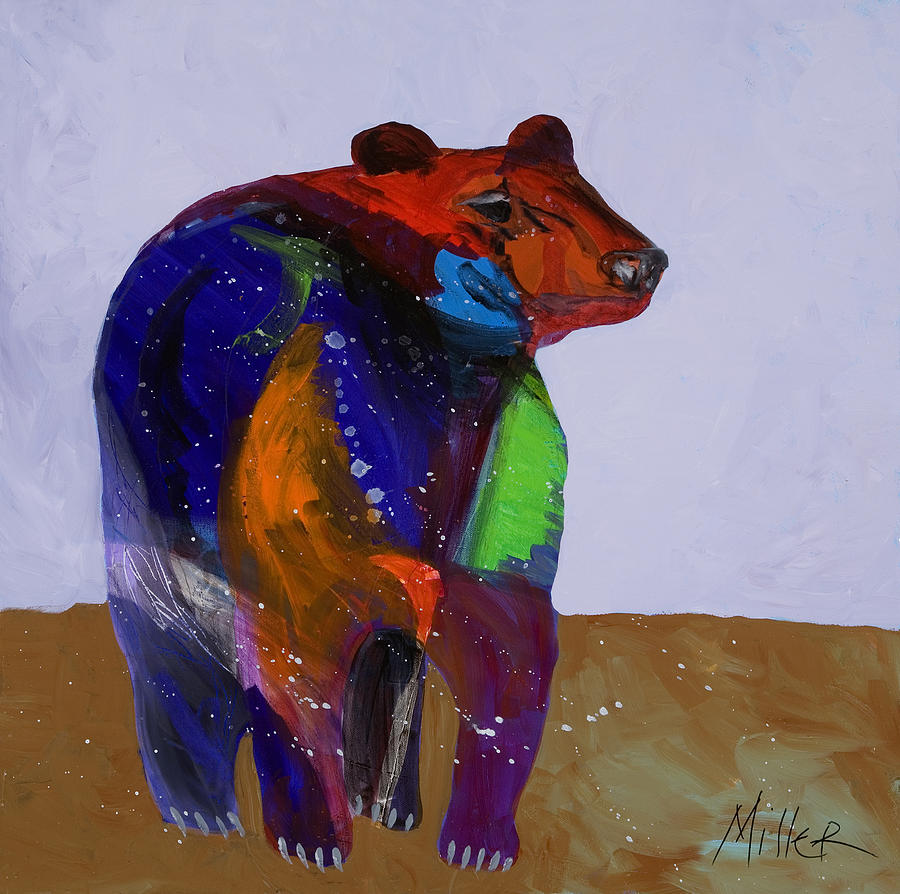 Black Bear Painting - Big Bear by Tracy Miller