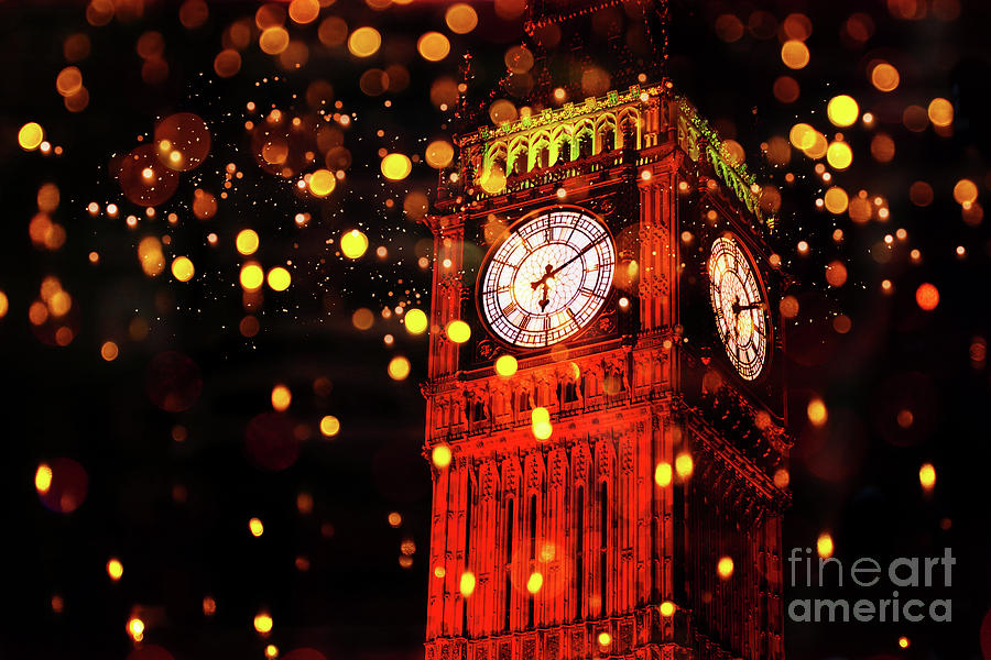 Big Ben Aglow by Digital Art Cafe