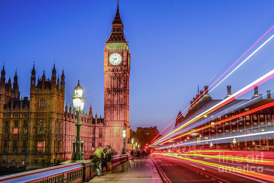 Big Ben Photograph - Big Ben by Night by Stacey Granger