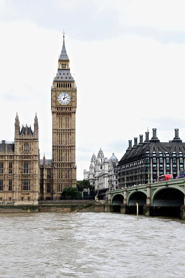 England Photograph - Big Ben On Dreary Day by Sean Flynn