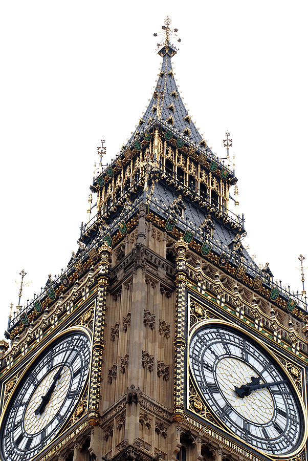 Vertical Photograph - Big Ben by Peter Funnell