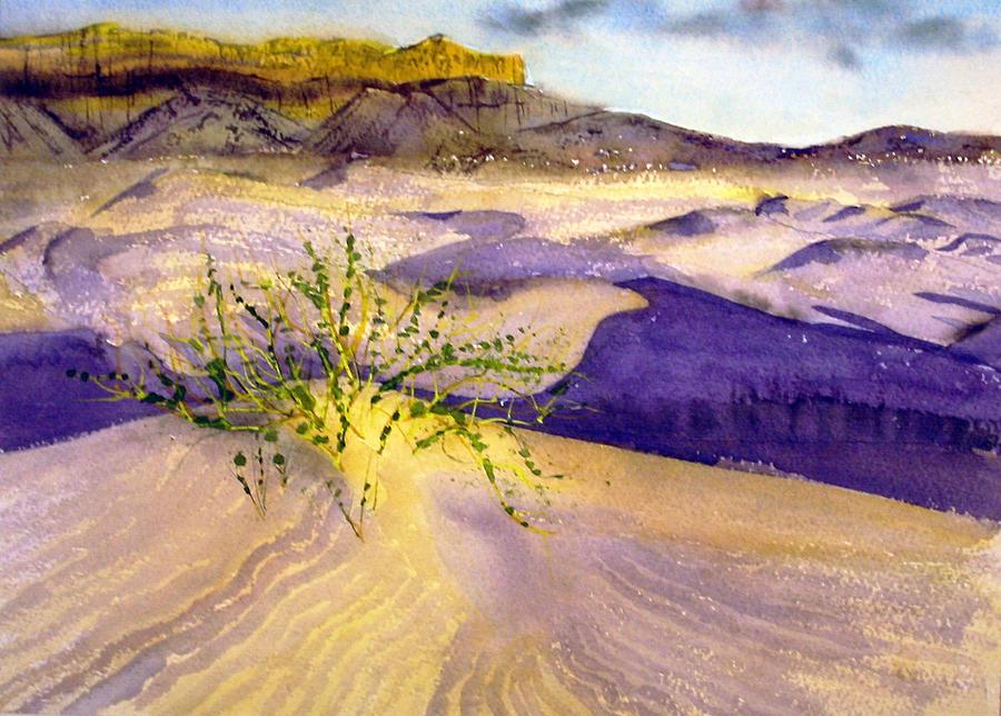 Landscape Painting - Big Bend Landscape II by Myrna Salaun