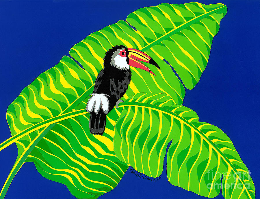 Nature Drawing - Big Billed Bird by Lucyna A M Green