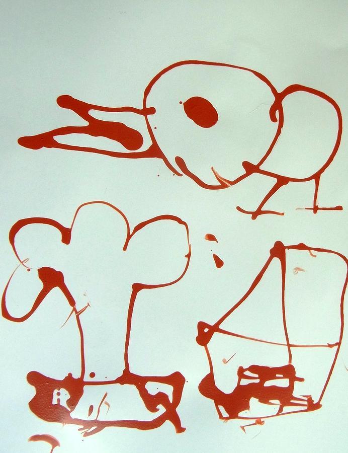Abstract Painting - Big Bird by Nanak Chadha
