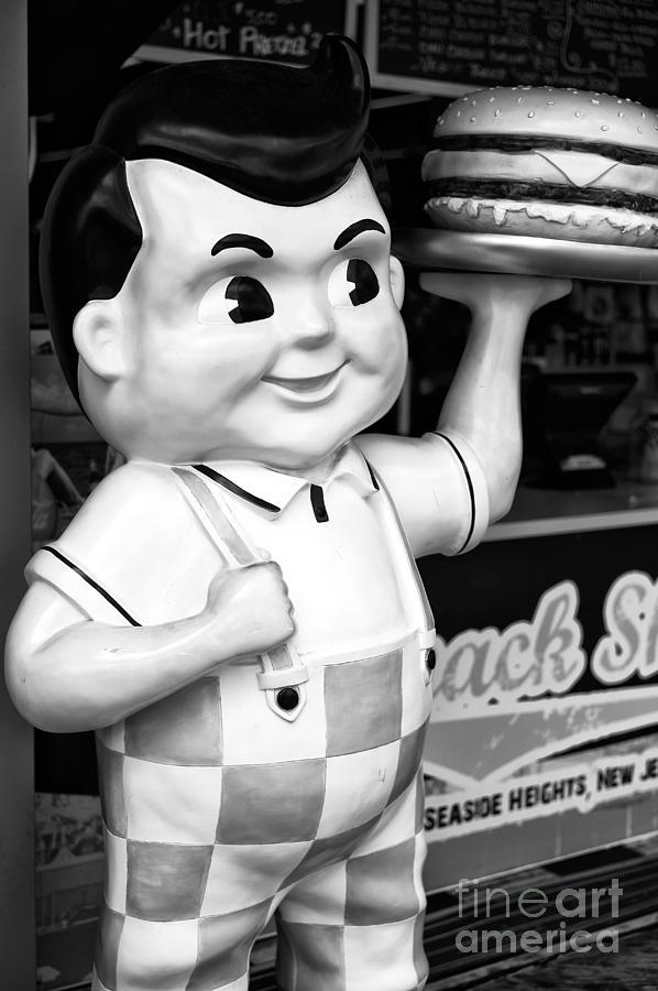Big Boy Photograph - Big Boy At The Jersey Shore Mono by John Rizzuto