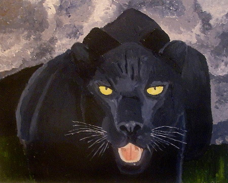 Panther Painting - Big Cat IIi by Mats Eriksson