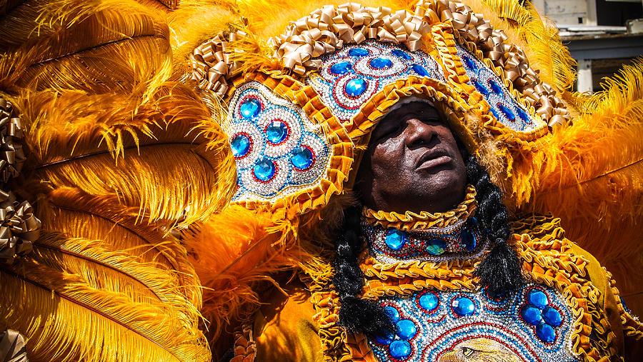 Mardi Gras Indians Photograph - Big Chief 2 by Shea Trahan