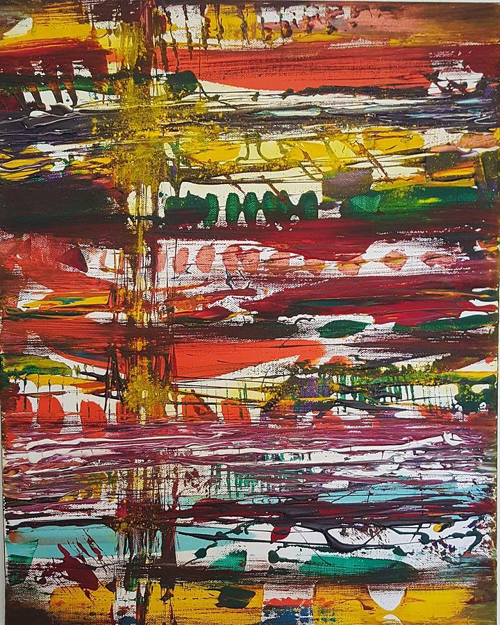Big City Lights Painting by Nataliya Teslenko