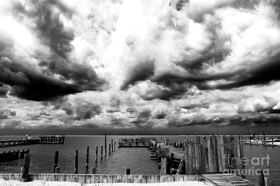 Clouds Photograph - Big Clouds Little Dock by John Rizzuto
