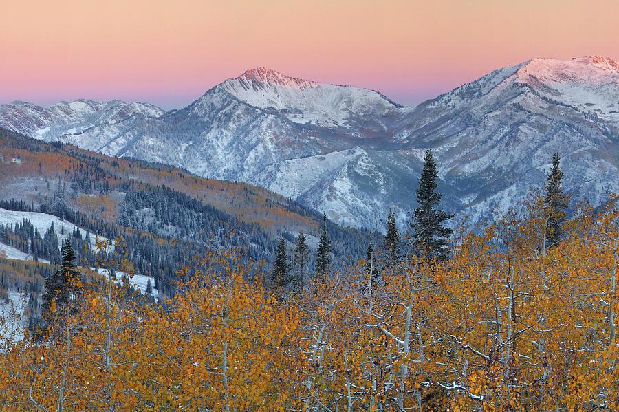 Guardsman Pass Photograph - Big Cottonwood Canyon Wasatch Sunrise by Dean Hueber