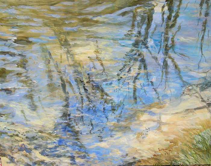 Water Painting - Big Creek by Denise Ivey Telep