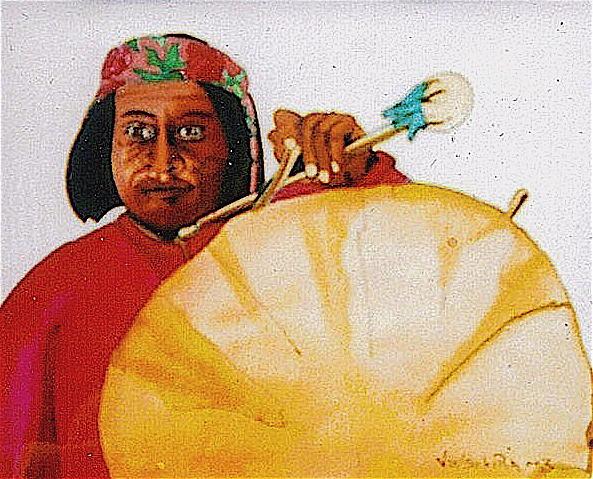 Big Drum Painting by Jamie Winter