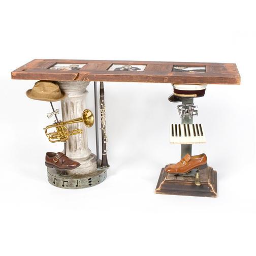 Recycle Sculpture - Big Easy Trio Console Table by Benjamin Bullins