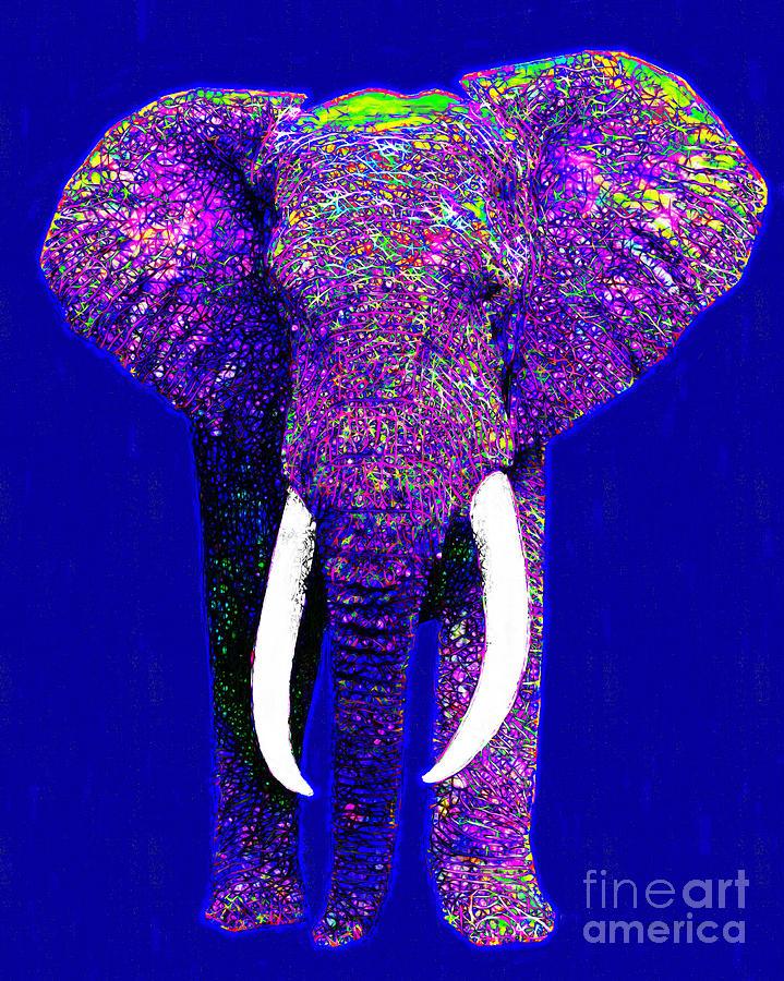 Elephant Photograph - Big Elephant 20130201m118 by Wingsdomain Art and Photography