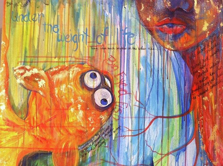 Fish Painting - Big Eyed Fish by Made by Marley