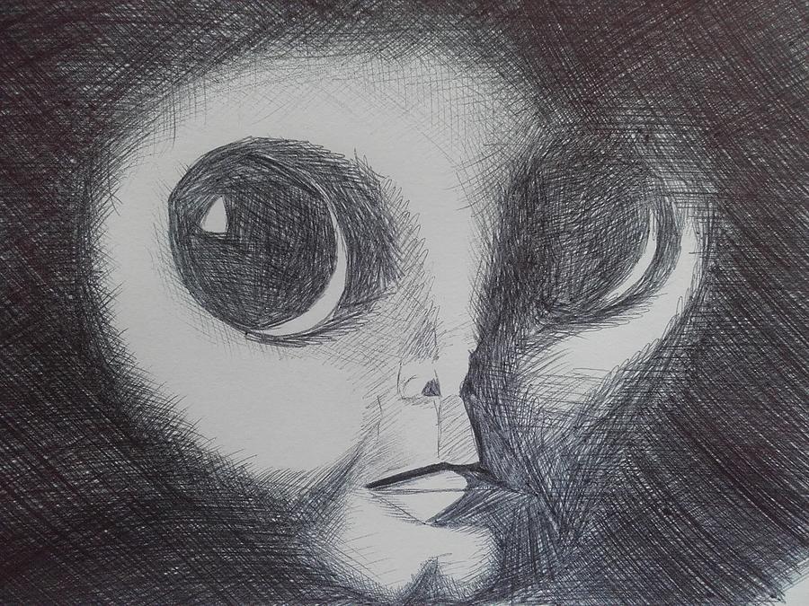 big eyes drawing by daniel groombridge