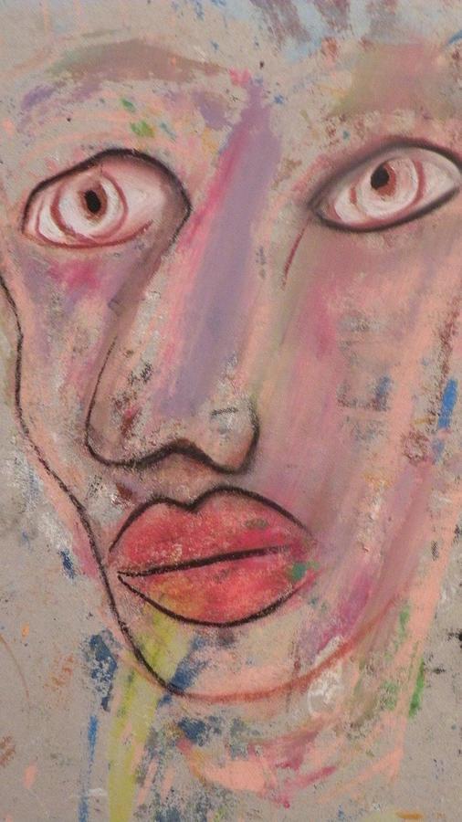Portrait Painting - Big Eyes by Robert Daniels