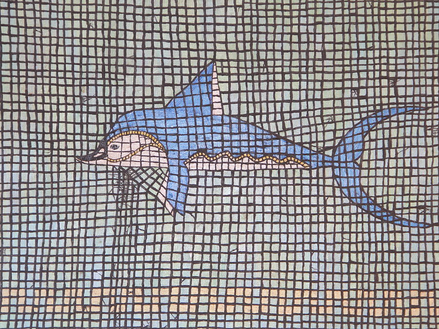 Fish Painting - Big Fin by Tracy Fetter