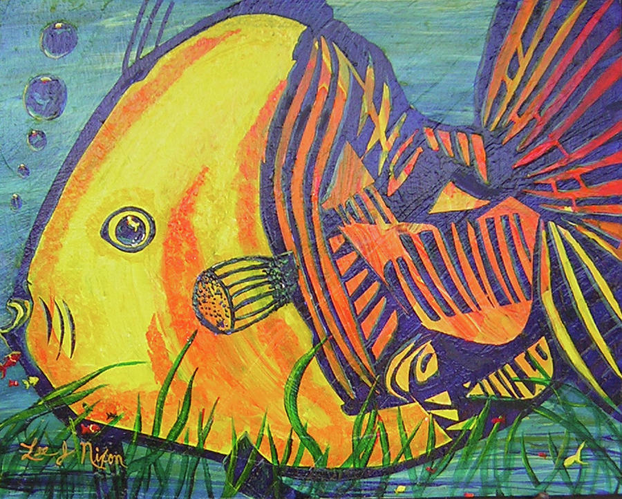 Big fish in a small pond painting by lee nixon for Big fish in a small pond