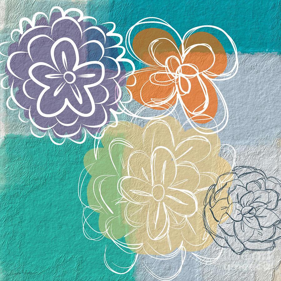 Flower Painting - Big Flowers by Linda Woods