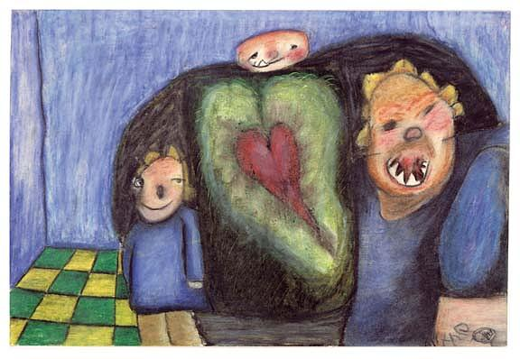 Love Painting - Big Hairy Scary And Cody by Billy Knows