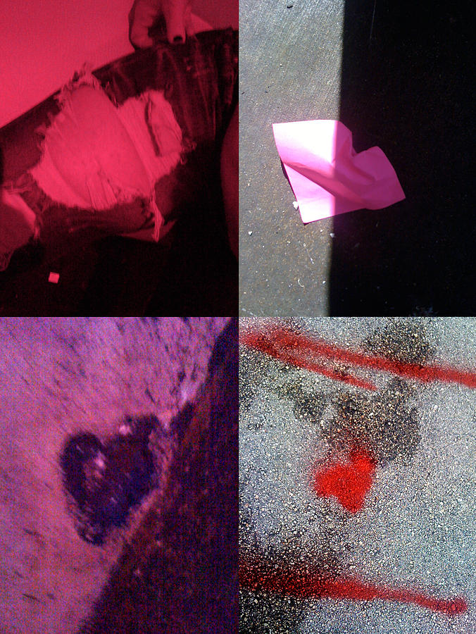 Abstract Hearts Photograph - Big Hearts Pink Red Purple by Boy Sees Hearts