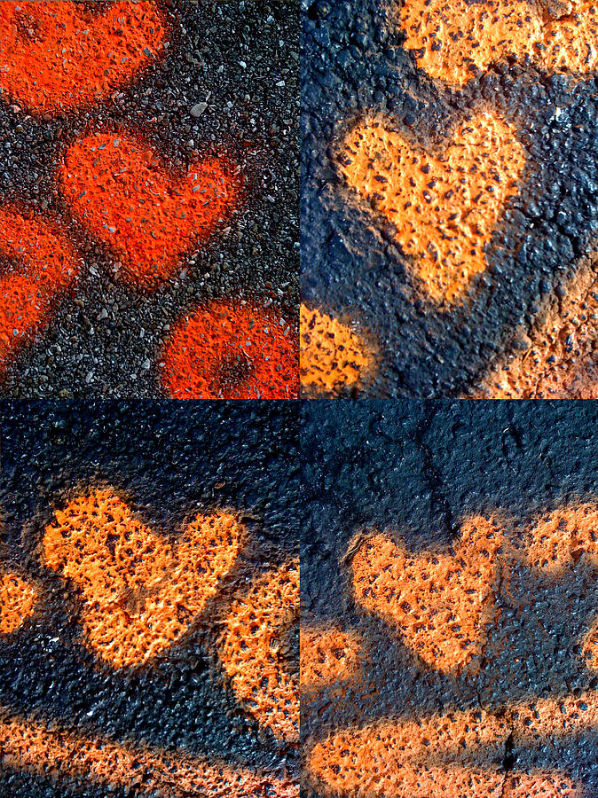 Heart Images Photograph - Big Hearts Spray Paint by Boy Sees Hearts
