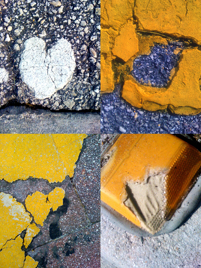 Abstract Hearts Photograph - Big Hearts Yellow by Boy Sees Hearts