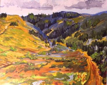 Big Hill Springs Painting by Gordon Davis
