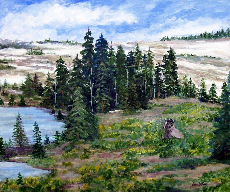 Big Horn Sheep Painting - Big Horn Sheep by Lorna Skeie