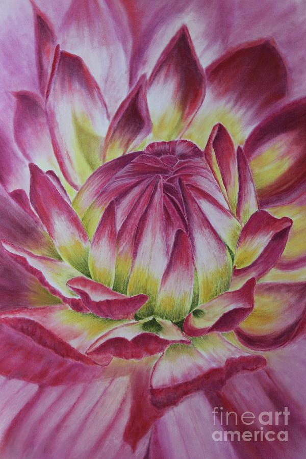 Floral Pastel - Big In Pink by Jackie Kirby