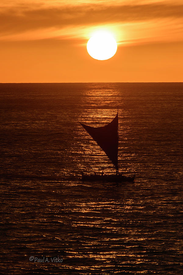 big island sunset by Paul Vitko