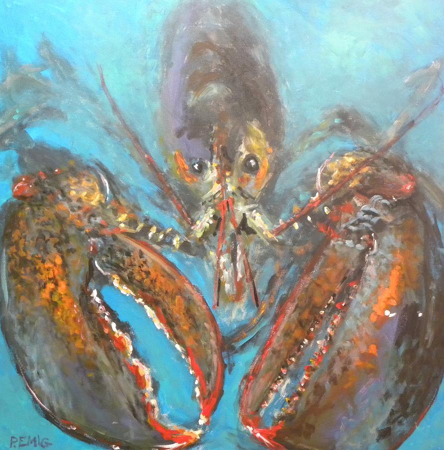 Lobster Painting - Big Lobster by Paul Emig