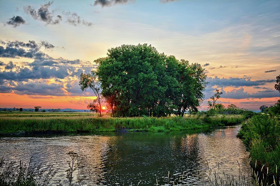 Marsh Photograph - Big Marsh Sun by Bonfire Photography